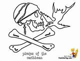 Pirates Caribbean Coloring Pages Sparrow Jack Colorable Yescoloring sketch template
