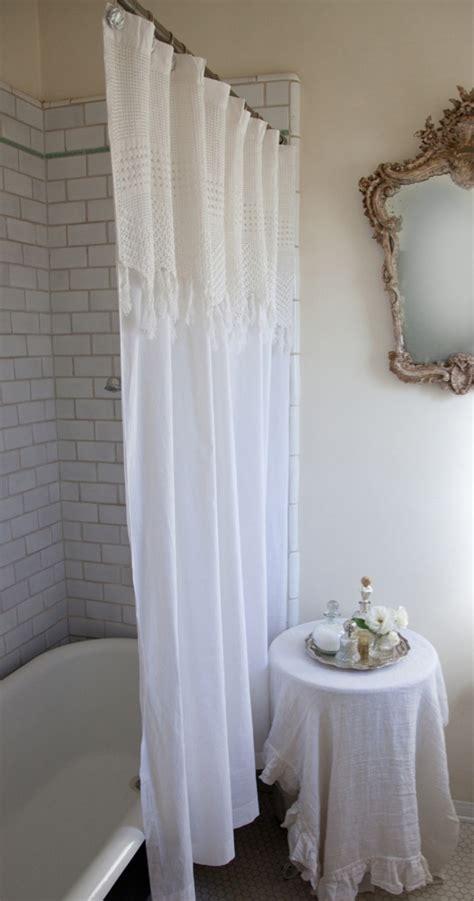 vintage shower curtains vintage crochet shower curtain the cape