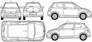 2007 suzuki swift hatchback blueprints free outlines With suzuki swift car