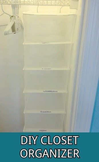 Days Of The Week Closet Organizer For by Diy Days Of The Week Closet Organizer The Road
