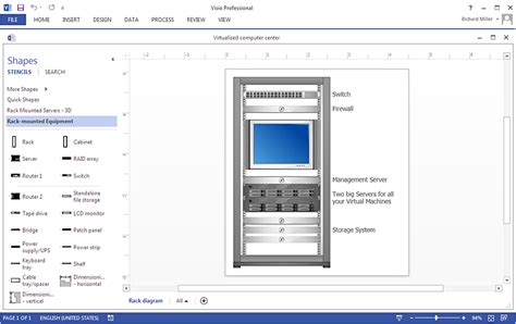 create a visio rack diagram conceptdraw helpdesk