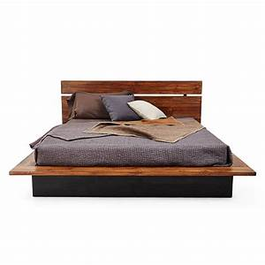 Bedroom Gorgeous Teak Bed Frame With Astounding Design