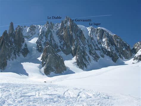 le jager couloir east of mont blanc du tacul 4248m chamonix 10 april 2010 the