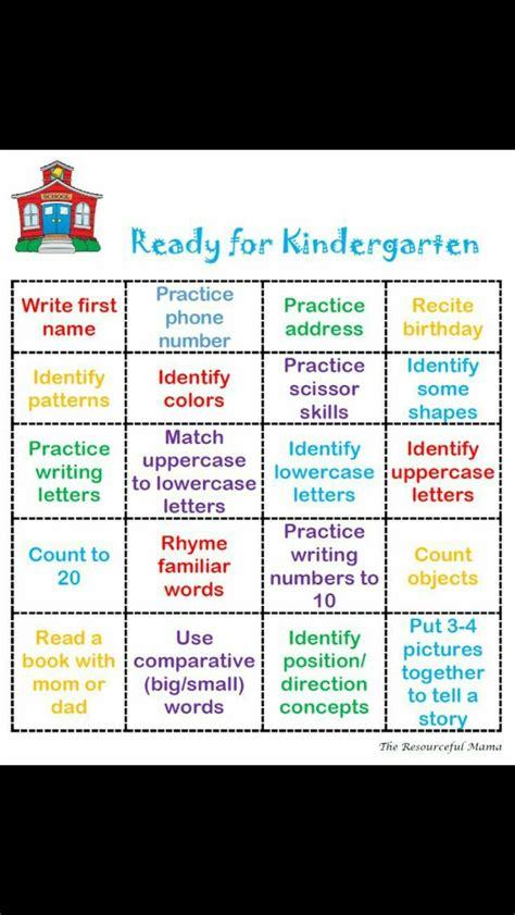 ready for kindergarten bingo children s activities 603 | b01f53d4ca16214dc79018f73c8f6607