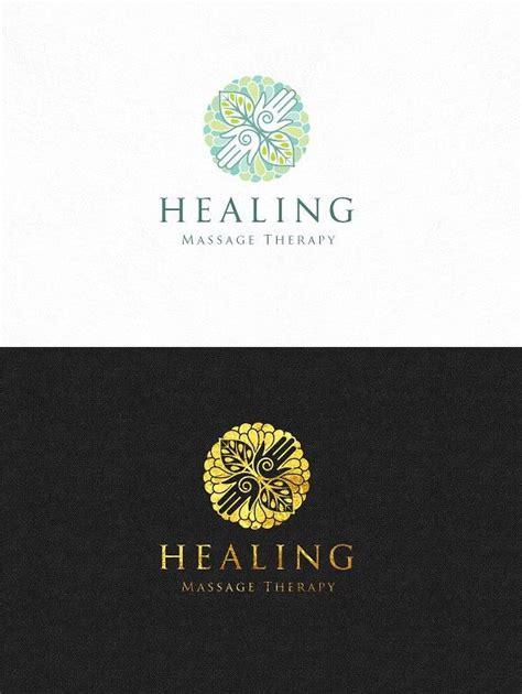healing massage logo template massage logo healing logo
