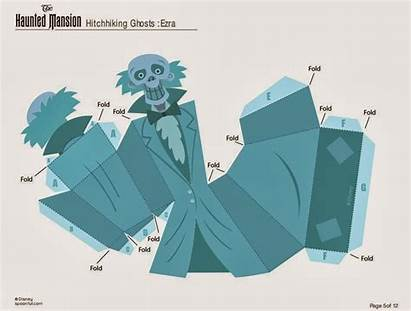 Haunted Mansion Printable Disney Ghost Masks Grim