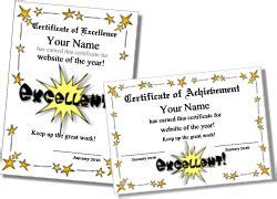 cute certificate templates  kids