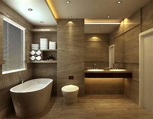 ideas for design bathroom blogbeen With carrelage adhesif salle de bain avec led mirror lights