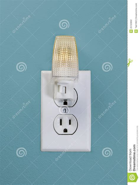 wall outlet light for time stock photography image