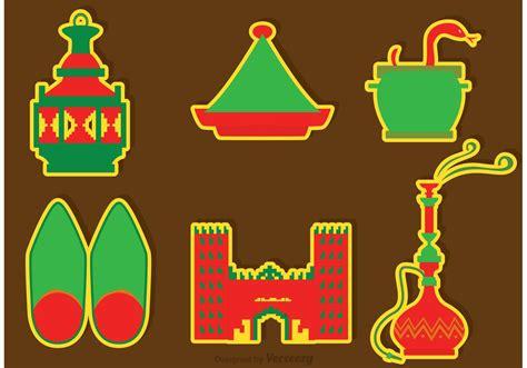 clipart vectors morocco culture icons vectors free vector