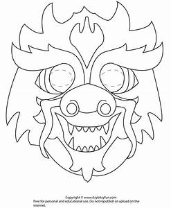 17 best images about coloring printable masks on pinterest With chinese dragon face template
