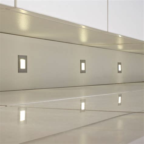 kitchen plinth lighting luce led square plinth light pack 2449