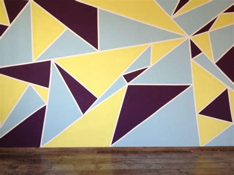 Wandgestaltung Kinderzimmer Grün Blau by Dreiecke Wandbild Wandgestaltung Wand Malen Streichen