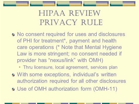 From Hipaa To Hitech Omh Briefing.