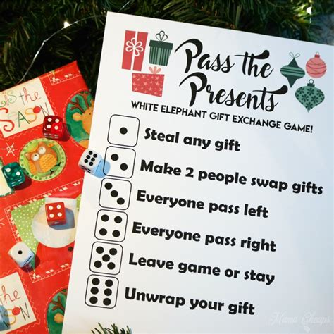 switch steal unwrap gift exchange pass the presents white elephant gift exchange free printable cheaps