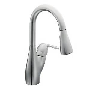 single kitchen faucet with pull out spray faucet 7599c in chrome by moen