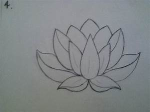 This lotus drawing is the exact shape I want for my lotus ...
