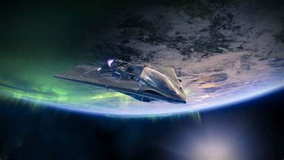 Destiny Spaceship Ship 4k Planet Desktop Background