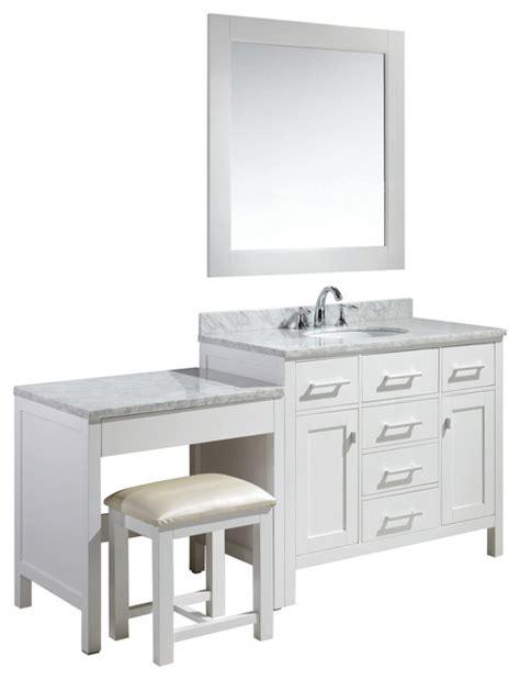 Sink Bathroom Vanity With Makeup Table by Single Sink Vanity Set With Make Up Table