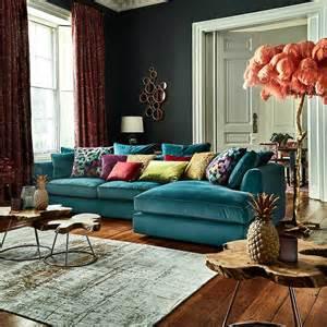 harrington large chaise lhf lumino teal corner sofas