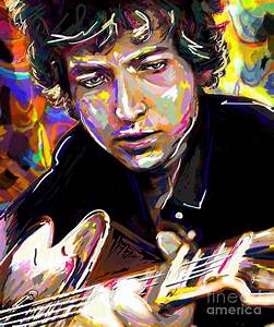 Bob Dylan Art Mixed Media by Ryan Rock Artist