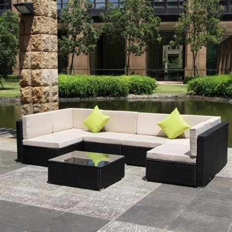 wicker sectional patio furniture enjoy your summer with outdoor wicker furniture 50 idea