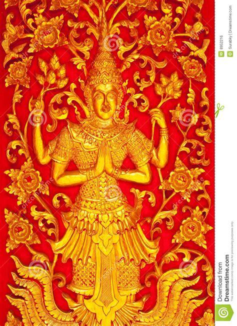 deva  traditional thai art royalty  stock image