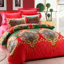 bohemia designer bedding set 4pcs bright color comforter sets bed linens girls duvet cover boho