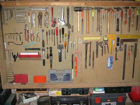 rangement des outils panneau d atelier