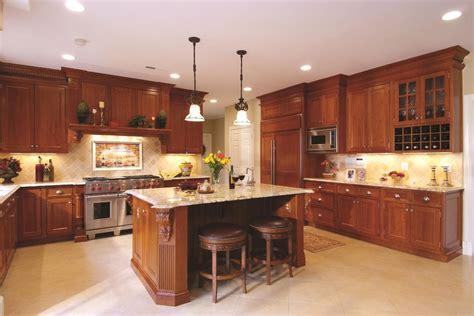 kitchen ideas with cherry cabinets kitchen design ideas cherry cabinets kitchen traditional 8122