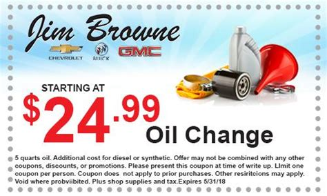 service coupons jim browne chevy buick gmc  dade city fl