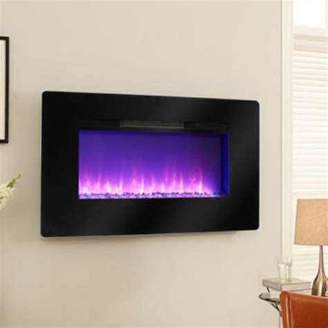 pleasant hearth electric wall mount fireplace mchbl