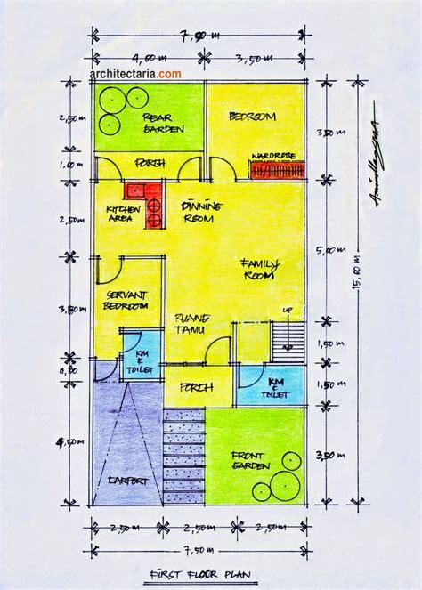 desain rumah minimalis  lantai ukuran  gambar foto