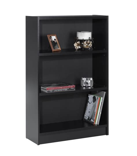 24 inch tall bookcase nexera essentials 48 inch tall bookcase black