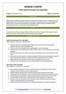 Entry Level Communications Resume Customer Care Specialist Resume Samples Qwikresume
