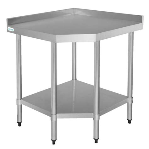 vogue corner unit table stainless steel kitchen work