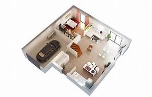 3d maison planrdc3d2 get free high quality hd wallpapers With maison de 100m2 plan 0 architouch 3d pour ipad dessinez vos plans de maison
