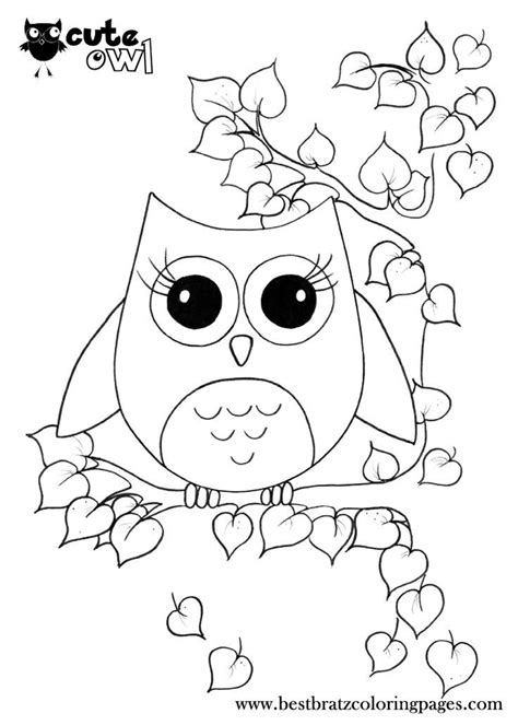 Cute Owl Coloring Pages Doodles Owl coloring pages
