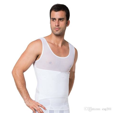 male body shaper waist trainer vest black white tummy tuck belt