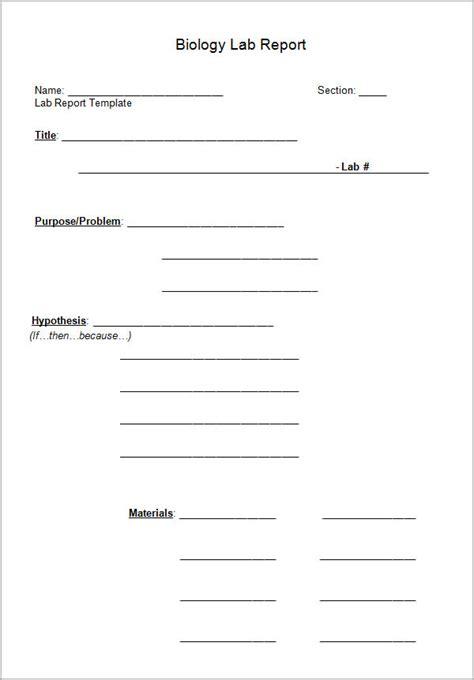 lab report templates