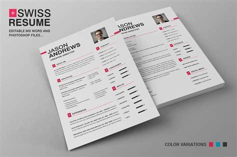 Resume Creator Script by Swiss Resume Cv Resume Templates Creative Market