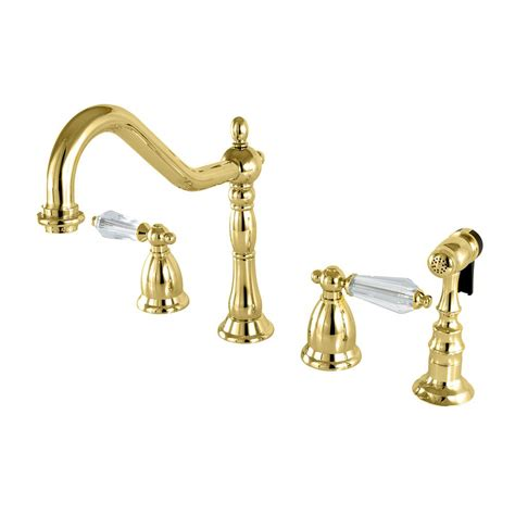 kingston kitchen faucets kingston brass vintage 2 handle standard kitchen