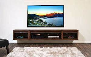 floating media center stylish and space saving furniture ...