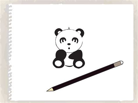draw  cartoon panda  steps  pictures wikihow