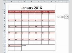How To Insert Calendar Excel 2016 Calendar Template 2018
