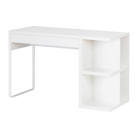 bureau ikea micke micke desk with integrated storage white ikea