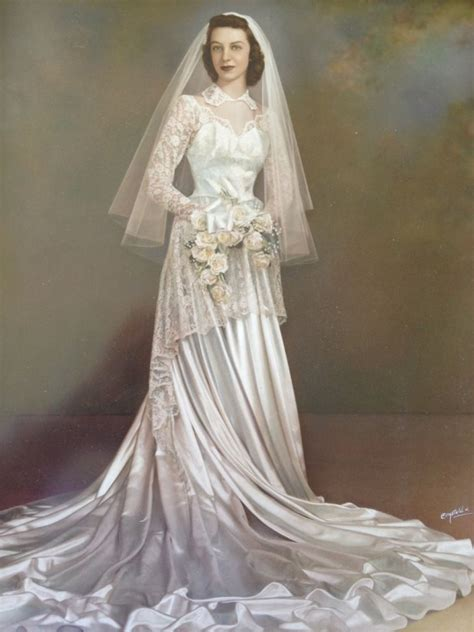 222 best 1950 s wedding gowns images on pinterest