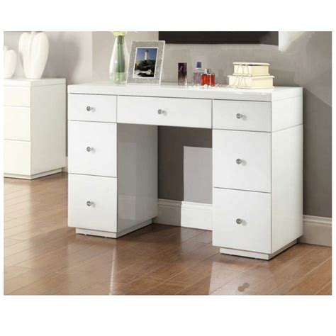 desk with drawers and mirror rio white glass mirrored dressing table mirror furniture