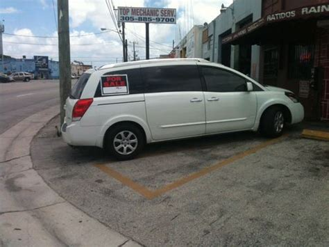 how to sell used cars 2007 nissan quest on board diagnostic system sell used 2007 nissan quest 3 5 sl in hialeah florida united states for us 12 500 00