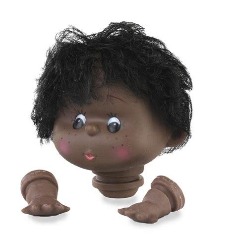 african american doll head  hands plastic  vinyl dolls doll making supplies craft